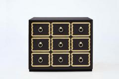 Dorothy Draper Pair of Authentic Dorothy Draper Espana Chests in Traditional Black Bean - 1976706