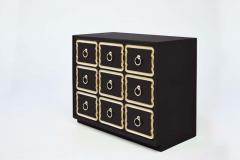 Dorothy Draper Pair of Authentic Dorothy Draper Espana Chests in Traditional Black Bean - 1976707