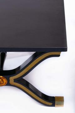 Dorothy Draper Pair of Dorothy Draper Espa a Side Tables in Original Black and Gold Lacquer - 1976589