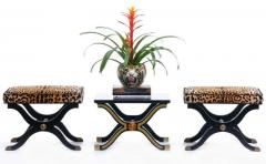 Dorothy Draper Pair of Dorothy Draper Espa a Side Tables in Original Black and Gold Lacquer - 1976591