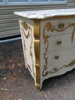 Dorothy Draper Stunning Dorothy Draper style Marble Top Chest Gilt Decoration - 1138796
