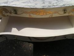 Dorothy Draper Stunning Dorothy Draper style Marble Top Chest Gilt Decoration - 1138810