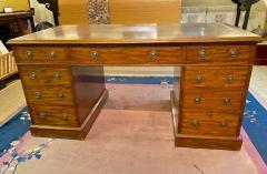 Double Pedestal Mahogany Desk 19th Century - 1779315