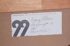 Doug Ohlson Drawing 19 1985 Minimalist Oil on Paper by Doug Ohlson 1936 2010  - 1984150