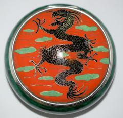 Dragon Box Enamel on Sterling Silver - 327115