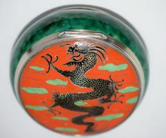 Dragon Box Enamel on Sterling Silver - 327117
