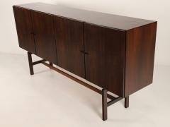 Dramatic Scandinavian Modern Rosewood Four Door Cabinet w Bar Feature - 2014333