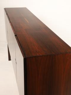 Dramatic Scandinavian Modern Rosewood Four Door Cabinet w Bar Feature - 2014334