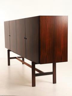 Dramatic Scandinavian Modern Rosewood Four Door Cabinet w Bar Feature - 2014335