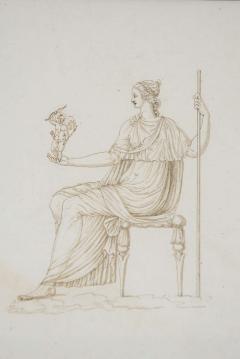 Drawing of Venus Holding Cupid - 1074477