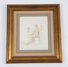Drawing of Venus Holding Cupid - 1074479