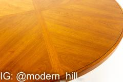 Drexel Heritage Mid Century Walnut and Brass Round Coffee Table - 1868647