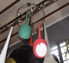 Drops chandeliers in fiberglass and lacquered resin - 905946