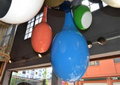 Drops chandeliers in fiberglass and lacquered resin - 905948