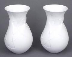 Dror Benshetrit Pair of Rosenthal Studio Line Matte White Vases of Phases  - 38978