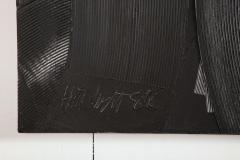 Duayne Hatchett Abstract Black and White Trowel Painting by Duayne Hatchett - 1089854