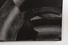 Duayne Hatchett Abstract Black and White Trowel Painting by Duayne Hatchett - 1089855