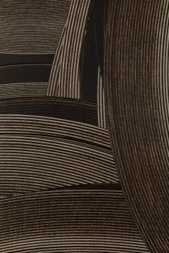 Duayne Hatchett Abstract Black and White Trowel Painting by Duayne Hatchett - 1168889