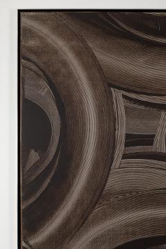 Duayne Hatchett Abstract Black and White Trowel Painting by Duayne Hatchett - 1168890