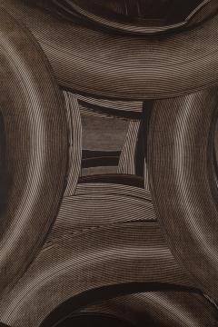 Duayne Hatchett Abstract Black and White Trowel Painting by Duayne Hatchett - 1168891