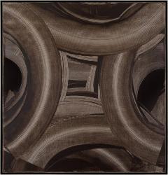Duayne Hatchett Abstract Black and White Trowel Painting by Duayne Hatchett - 1169081