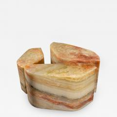 Duccio Maria Gambi Duccio Maria Gambi for Blend Set of three Onyx Stools Sidetables Italy 2021 - 2021402