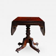 Duncan Phyfe American Federal Black Walnut Drop Leaf Breakfast Table Circa  1825   516922