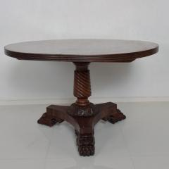 Duncan Phyfe Antique English 1850s Gateleg Breakfast Dining Table Carved Claw Legs - 1297621