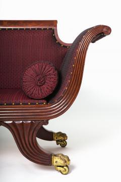 Duncan Phyfe Brass Inlaid Mahogany Grecian Sofa - 1904050