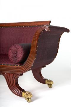 Duncan Phyfe Brass Inlaid Mahogany Grecian Sofa - 1904051