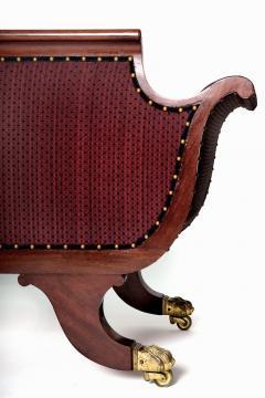 Duncan Phyfe Brass Inlaid Mahogany Grecian Sofa - 1904052