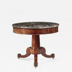 Duncan Phyfe Classical Marble Top Center Table - 730887