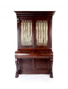 Duncan Phyfe Early 19th Century Duncan Phyfe Grecian Plain Style Mahogany Secretary Bookcase - 1739046