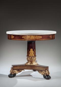 Duncan Phyfe Faux Grained Rosewood and Stenciled Figured Maple Center Table - 1343920