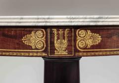 Duncan Phyfe Faux Grained Rosewood and Stenciled Figured Maple Center Table - 1343921