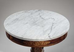 Duncan Phyfe Faux Grained Rosewood and Stenciled Figured Maple Center Table - 1343926