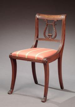 Etonnant Duncan Phyfe Set Of Six Lyre Back Side Chairs Attributed To The Workshop Of  Duncan Phyfe