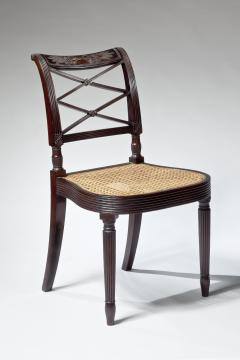 Duncan Phyfe Sheraton Carved Mahogany Side Chair - 393259
