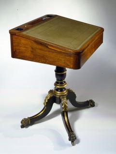 Duncan Phyfe Slant Top Pedestal Desk - 400174