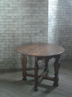 Dutch 18th century round Drop Leaf Table or Demilune Console - 627136