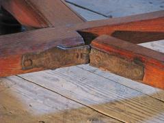 Dutch 18th century round Drop Leaf Table or Demilune Console - 627140