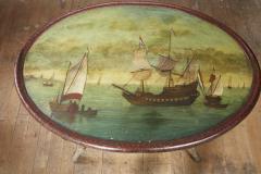 Dutch Folk Art Hindeloopen Table - 1984342