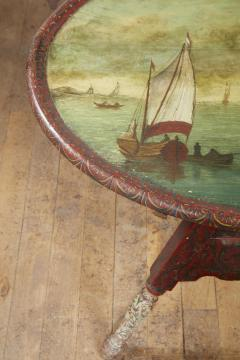 Dutch Folk Art Hindeloopen Table - 1984343