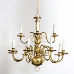Dutch Mid Century Brass Chandelier - 1690597