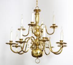 Dutch Mid Century Brass Chandelier - 1690612