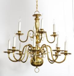 Dutch Mid Century Brass Chandelier - 1690627