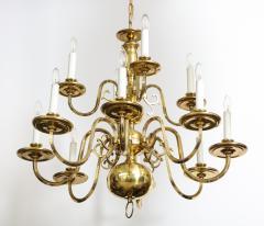 Dutch Mid Century Brass Chandelier - 1690647