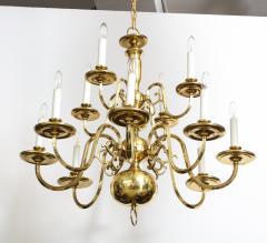 Dutch Mid Century Brass Chandelier - 1690680