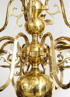 Dutch Mid Century Brass Chandelier - 1690681