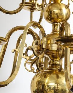Dutch Mid Century Brass Chandelier - 1690682